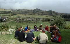 Griffin Harvey's learning about an indigenous community in the Andes mountains.