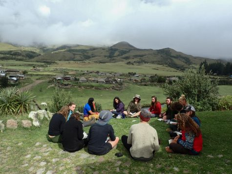 Griffin Harveys learning about an indigenous community in the Andes mountains.