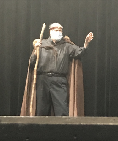 David Mycoff performs in King Lear.